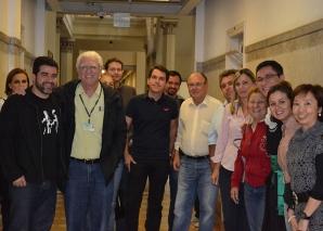 "O Jornalista Diogo Miranda, fez palestra sobre ""Media Training""."
