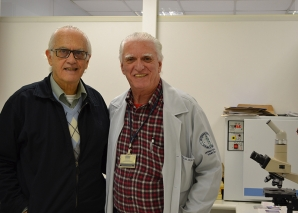O Prof. Fagundes, recebe o Jornalista Antonio Alberto Prado
