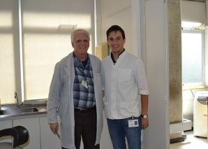 O Prof. Fagundes recebeu um Médico da Eslovênia em seu Estágio.