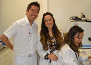 Prof. Fagundes e Biomedica Fátima Moraes, encerraram o curso de DST.