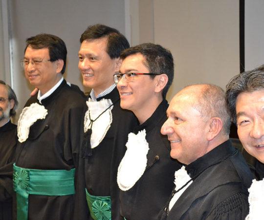 Os Membros da Banca da Tese do Prof. Dr. Elso Elias Vieira Júnior, Prof. Dr. Mauro Enokihara, Prof. dr. Chao Lung Wen, Prof. Dr. Wu Tu Hsing e o Prof. Dr. Raymundo Soares de Azevedo Neto