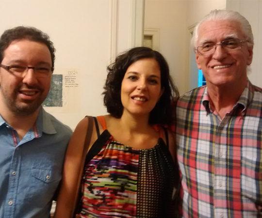 """Prof. Dr. Luiz Jorge Fagundes, Coordenador Científico do CEADS, Claudia Kfouri, Artísta Plástica e uma das """"Periquitas"""" e seu Marido """"Tato""""."""
