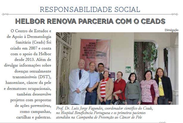 Empresa Helbor, renova a parceria com CEADS.