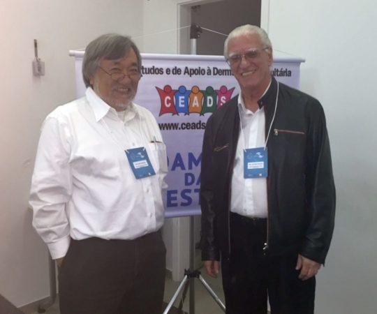 O Prof. Fabio Haramura, Coordenador de Gestão do CEADS e o Prof. Dr. Luiz Jorge Fagundes, Coordenador Científico do CEADS e Organizador do Evento.