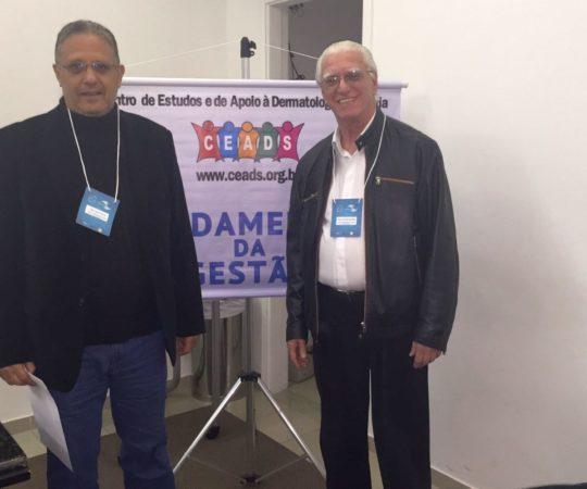 """Prof. Wesley Wey Jr, que fez a Palestra sobre """" Consequências de uma Gestão Despreparada"""" e o Prof. Dr.Luiz Jorge Fagundes, Coordenador Científico do CEADS."""
