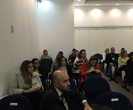 """Imagens do Auditório da SBD RESP com a presença dos Sócios da Entidade, durante o Ciclo de Palestras sobre """"Fundamentos da Gestão."""