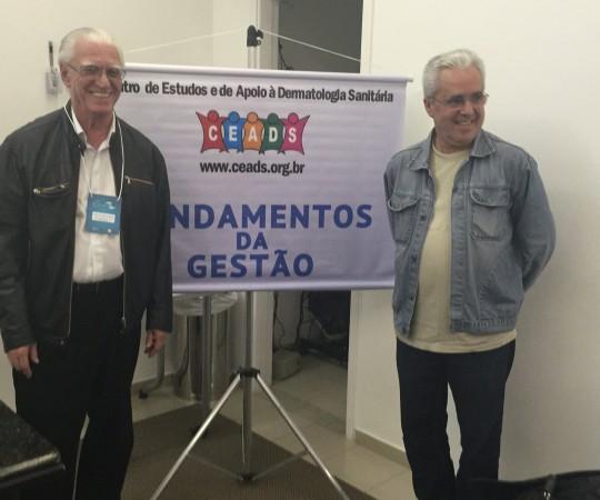 """Prof. Liber Matteucci,que proferiu a Palestra sobre """"Gestão da carreira no Exterior e o Prof. Dr. Luiz Jorge Fagundes, Coordenador científico do CEADS."""