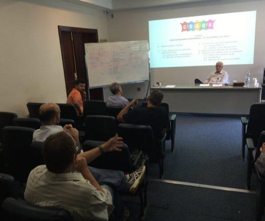 Os Colaboradores do CEADS e o Prof. Dr. Luiz Jorge Fagundes, durante a Reunião do CEADS.