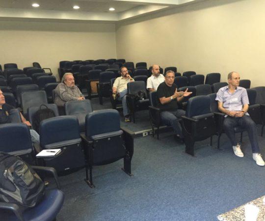 Grupo de Gestores do CEADS, nas dependências do  Auditório do Hospital Beneficência Portuguesa,durante reunião de definição da Missão do CEADS, para os próximos anos.