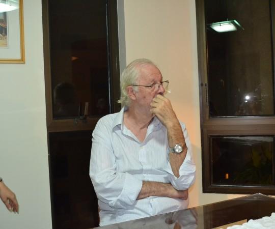 O Cineasta Ugo Giorgetti, Sócio Fundador do CEADS, durante a Reunião de Projetos para 2016 do CEADS