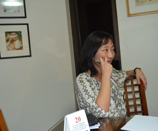 A Profa. Silvia Quiota Coordenadora de Gestão de Projetos do CEADS, durante a Reunião dos Projetos de 2016.