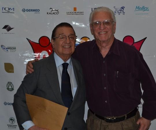 "O Prof. Dr. Luiz Jorge Fagundes, Coordenador Científico do CEADS, ao lado do Prof. Dr. Luiz Carlos Cucè, Coordenador do 58 Fórum de Debates do CEADS sobre ""Micoses Profundas""."