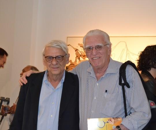O Arquiteto Norberto Chamas, Colaborador do CEADS e o Prof. Dr. Luiz Jorge Fagundes, Coordenador Científico do CEADS, durante a Exposição do Colaborador do CEADS o artista Plástico Gilberto Salvador.