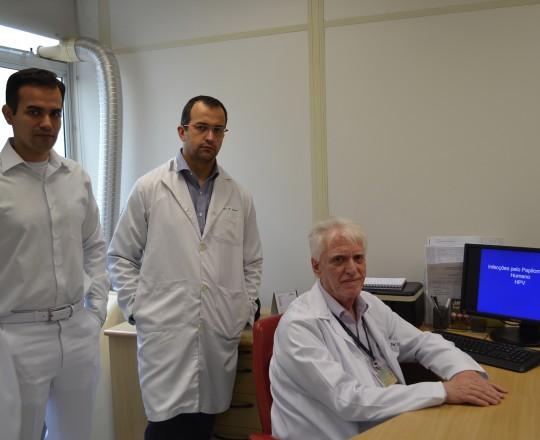 """Os Estagiários de IST de março de 2017 e o Prof. Dr. Luiz Jorge Fagundes, Coordenador Científico do CEADS, durante a Palestra sobre """"Infecção pelo HPV"""""""