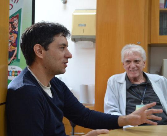 """O Prof. Dr. Luiz Jorge Fagundes, Coordenador Científico do CEADS e o Prof. Gustavo Capistano Haramura, Secretário do CEADS e Palestrante do Tema: """"Coach -Definição e Atribuições""""."""