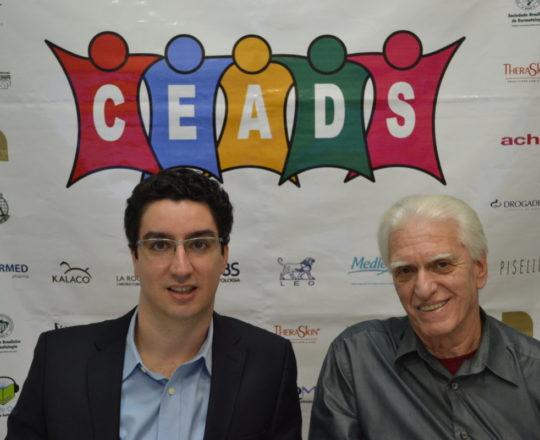 O Prof. Dr. Nilton Gioia Di Chiacchio, Palestrante do 65 Fórum de Debates do CEADS e o Prof. Dr. Luiz Jorge Fagundes, Coordenador Científico do CEADS e Organizador do Fórum.