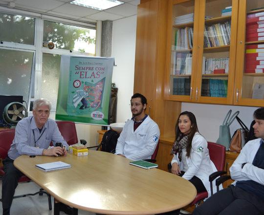 O Prof. Dr. Luiz Jorge Fagundes, Coordenador Científico do CEADS e os Estagiários de DST e IST de junho de 2017.