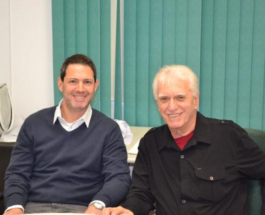"""O Prof. Daniel Rothenberg, Colaborador do CEADS e Palestrante do Tema """"Gestão de Conflitos"""" e o Prof. Dr. Luiz Jorge Fagundes, Coordenador Científico do CEADS."""