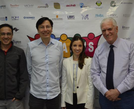 O Sr. AdrianoTakiuti da Telemedicina da USP, O Prof. Dr. Sergio Hirata, a Dra. Nathalia Targa Pinto e o Prof. Dr. Luiz Jorge Fagundes, no término do 68 Fórum de Debates do CEADS.