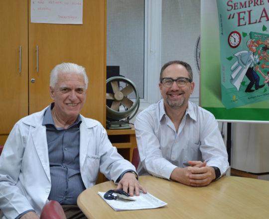 """O Prof. Theo Lerner , Palestrante do tema: Situações de Abuso Sexual"""" e o Prof. Dr. Luiz Jorge Fagundes, Coordenador Científico do CEADS."""