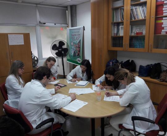 Os Estagiário de DST de setembro de 2017, durante a realização das provas teórica e prática de DST.
