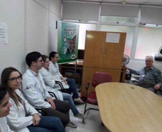 O Prof. Dr. Luiz Jorge fagundes, Coordenador Científico do CEADS e os Estagiários de DST de novembro de 2017, durante a realização da Prova Oral de DST.