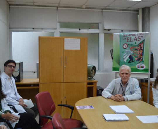 O Prof. Dr. Luiz Jorge Fagundes, Coordenador Científico do CEADS e os Estagiários de DST de novembro de 2017.