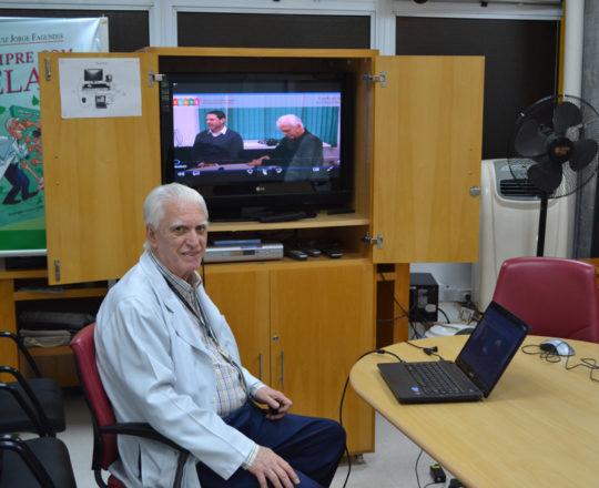 """O Prof. Dr. Luiz Jorge Fagundes, Coordenador Científico do CEADS, durante a apresentação do vídeo sobre """"Gestão de Conflitos"""", Coordenado pelo Prof. Daniel Rothenberg"""