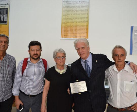 O Prof. Dr. Luiz Jorge Fagundes, com os Colaboradores do CEADS: Henrique Santoro, Carlos Okada , Maria Haramurra e Mauri de Castro Rezende.