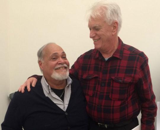 """""""Mestre Giba"""" e """"Luizinho Fagundes"""" ( como nós nos chamamos), durante a comemoração dos 60 anos de amizade."""