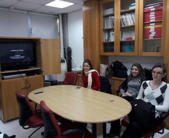 Os Estagiários de DST de junho de 2018, durante a apresentação do Documentário sobre o Prof. Dr. Sebastião de Almeida Prado Sampaio, primeiro Presidente do CEADS.