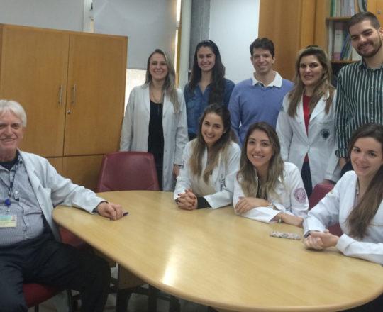 Os Estagiários de DST de junho de 2018 e o Prof. Dr. Luiz Jorge Fagundes, no Encerramento do Estágio
