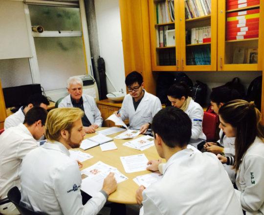 O Prof. Dr. Luiz Jorge Fagundes e os Estagiários de DST de agosto de 2018, durante a realização das provas iniciais do Estágio.