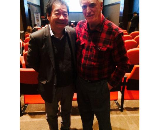 """O Prof. Dr. Luiz Jorge Fagundes, Coordenador Científico do CEADS e o Prof. Dr. Mauro Enokihara, Presidente da SBCD e um dos Organizadores do Curso sobre """"Fundamentos da Gestão""""."""