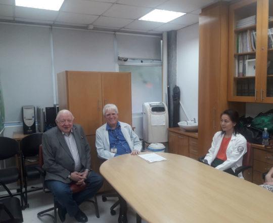 O Prof. Dr. Sidnei Martini, o Prof. Dr. Luiz Jorge Fagundes, Coordenador Científico do CEADS e os Estagiários de DSR de setembro de 2018.