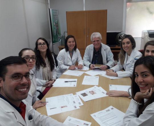 O Prof. Dr. Luiz Jorge Fagundes e os Estagiários de DST de setembro de 2018, durante a realização das provas iniciais do Estágio.