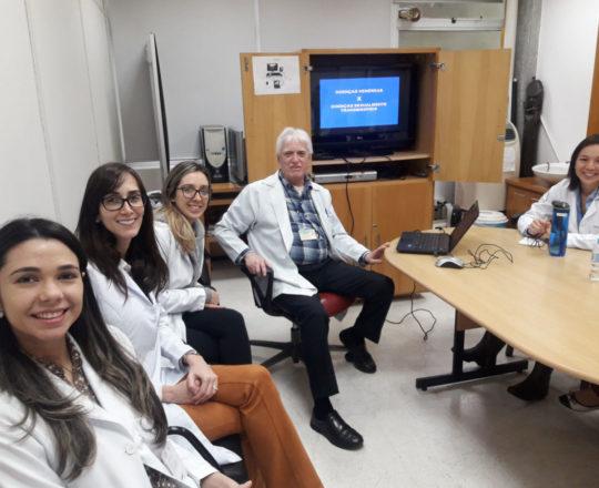 O Prof. Dr. Luiz Jorge Fagundes e os Estagiários de DST de agosto de 2018, durante a Palestra sobre Doença Sexualmente Transmissíveis.