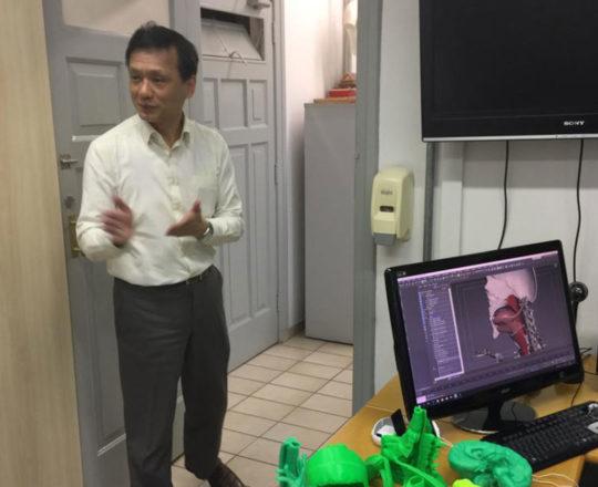O Prof. Dr. Chao Lung Wen Responsável pela Disciplina de Telemedicina da USP
