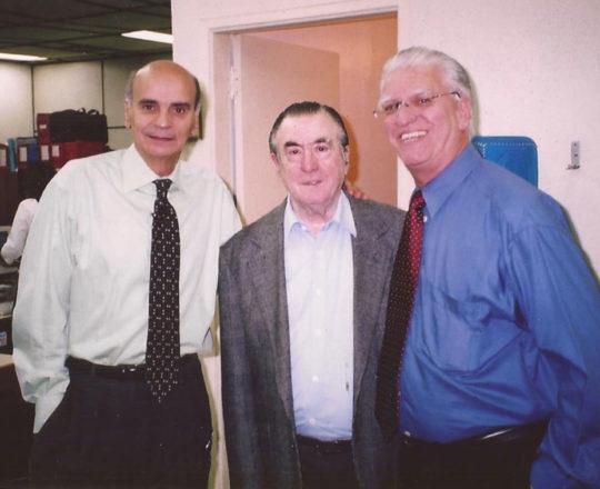 """O Prof. Drauzio Vilella, o Prof. Dr. Vicente Amato Neto e o Prof. Dr. Luiz Jorge Fagundes, durante as Gravações do Programa """"Estação Saúde da Reitoria da UNIP"""