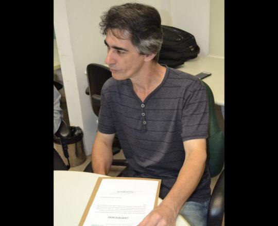O Designer Gustavo Zagatto, homenageado pelo CEADS.