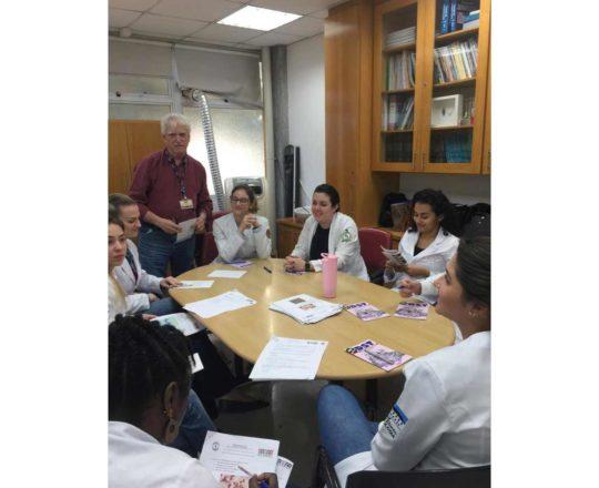 O Prof. Dr. Fagundes e os Estagiários de DST de julho de 2019, durante as provas iniciais