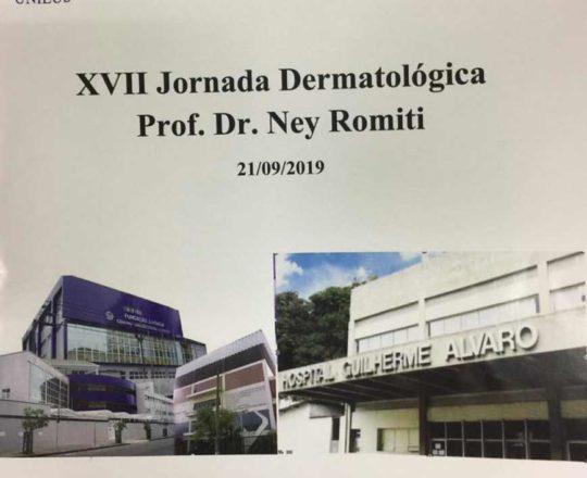 O Prof. Dr. Fagundes compareceu à XVII Jornada Dermatológica Prof. Dr. Ney Romiti