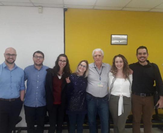 O Prof. Dr. Fagundes e os Estagiários de DST de fevereiro de 2020.