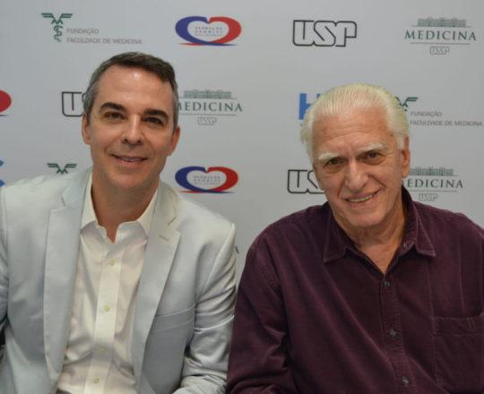 O Prof. Marco Antonio de Oliveira e o Prof. Dr. Luiz Jorge Fagundes, durante o 96 Fórum de Debates do CEADS.