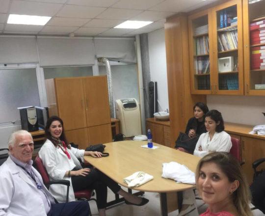 O Prof. Dr. Luiz Jorge Fagundes e a Profa. Dra. Fabiane Bergosse, durante Palestra sobre o  Projeto do Homem Virtual