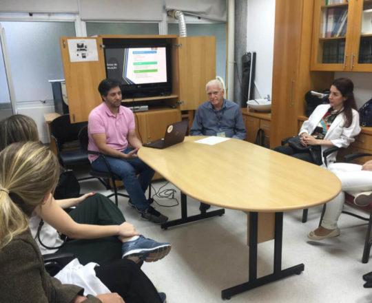 O Prof. Gustavo Haramura, a Dra. Fabiane Bergosse , o Prof. Dr. Fagundes e, os Estagiários de DST de março de 2020