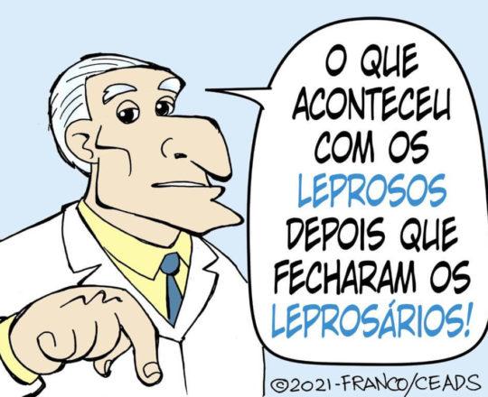 Qual o destino dos doentes quando os Leprosarios fecharam?
