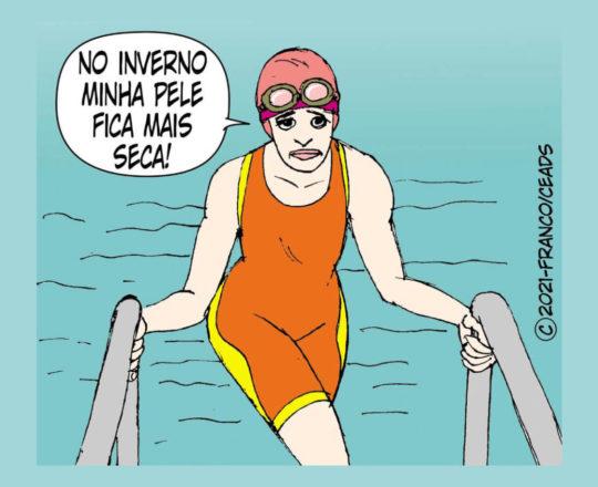 Pele seca dos nadadores